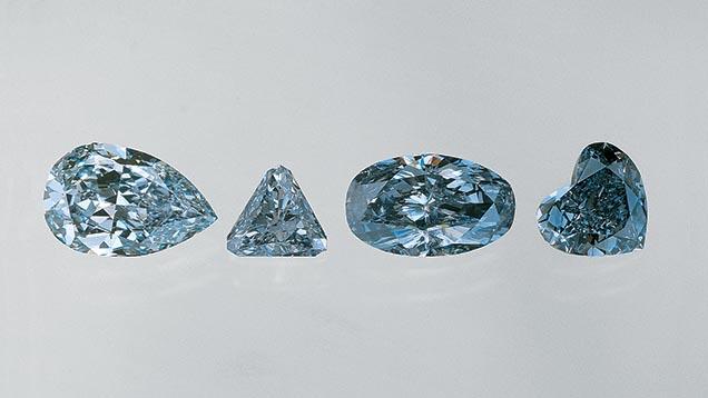 blue fancy diamonds